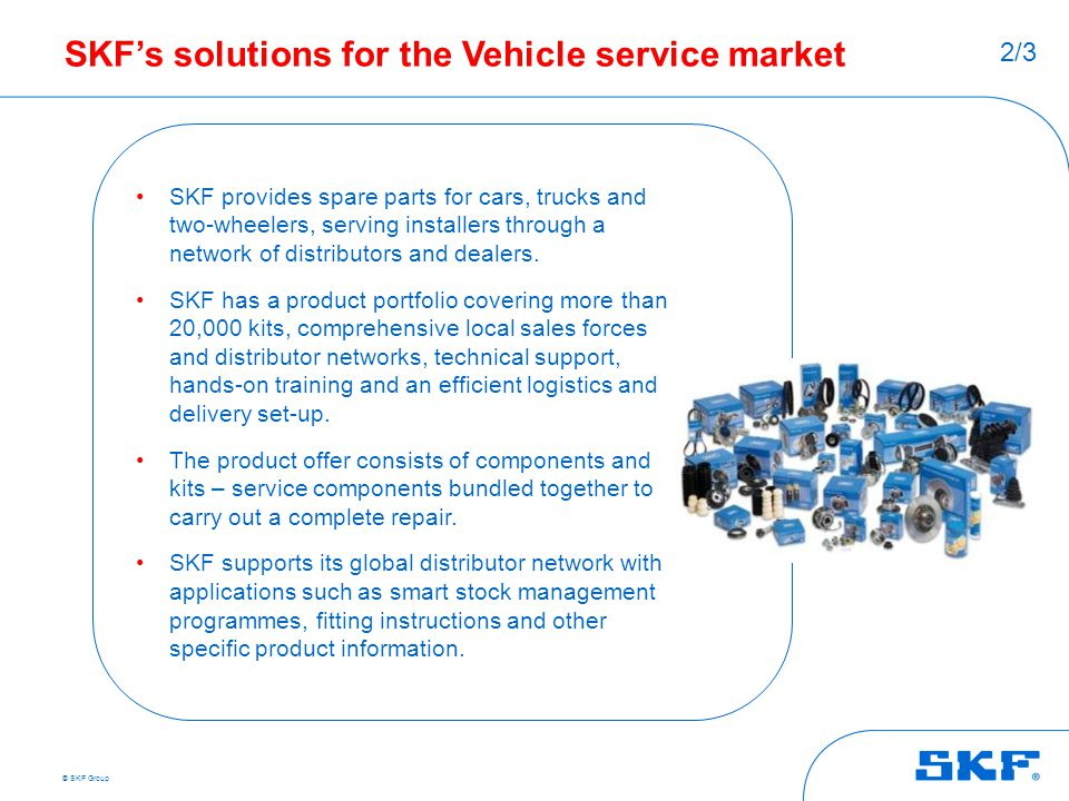 SKF's solutions for the Vehicle service market