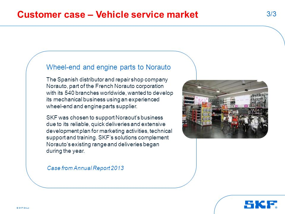 Customer case – Vehicle service market