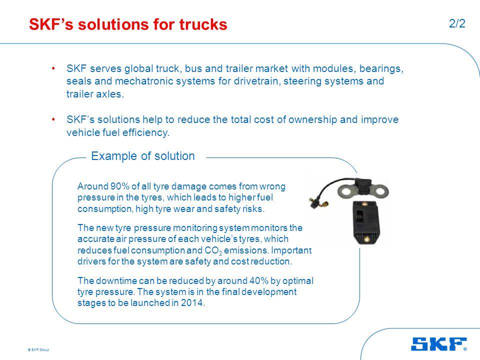 SKF's solutions for trucks