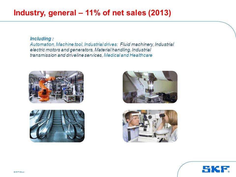 Industry, general – 11% of net sales (2013)