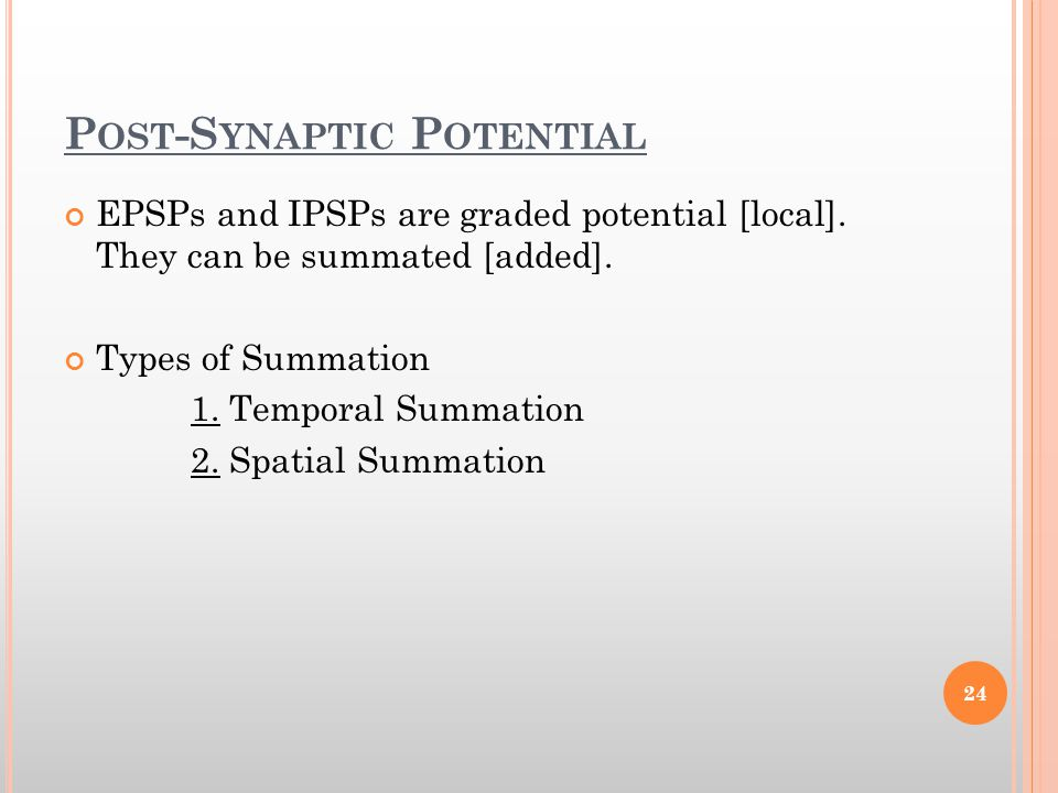 Post-Synaptic Potential