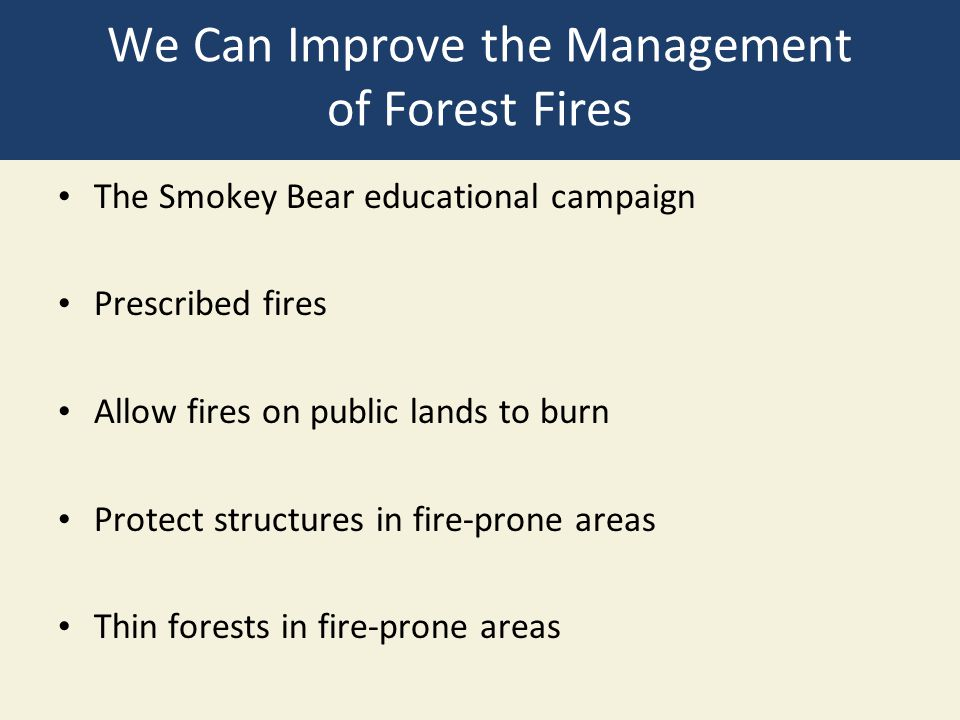 We Can Improve the Management of Forest Fires