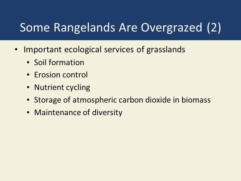 Some Rangelands Are Overgrazed (2)