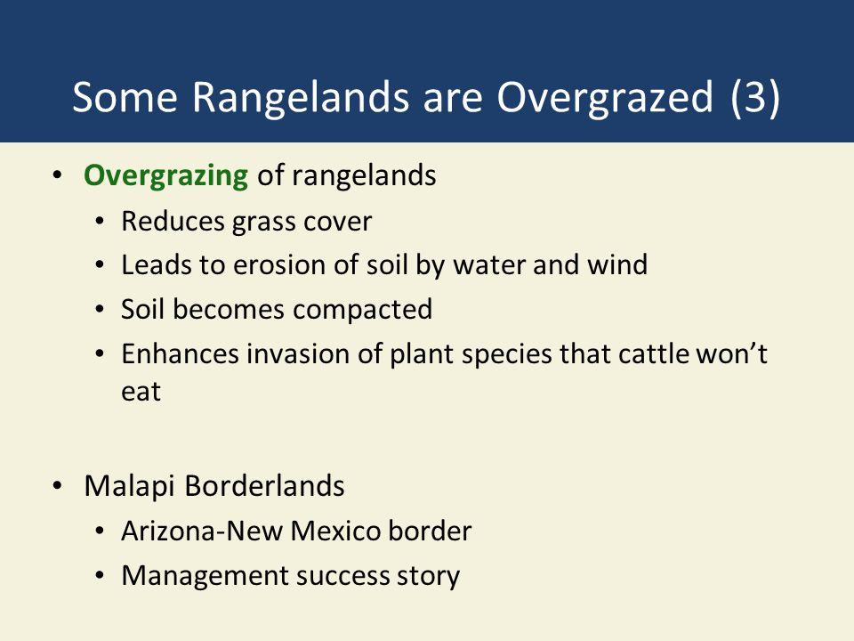 Some Rangelands are Overgrazed (3)