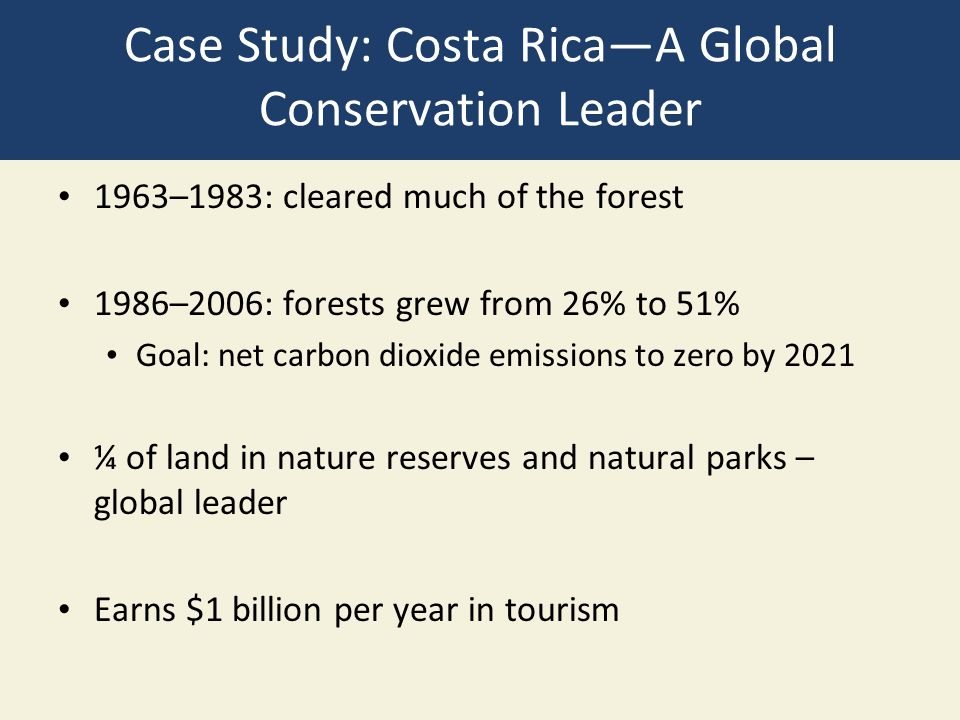 Case Study: Costa Rica—A Global Conservation Leader