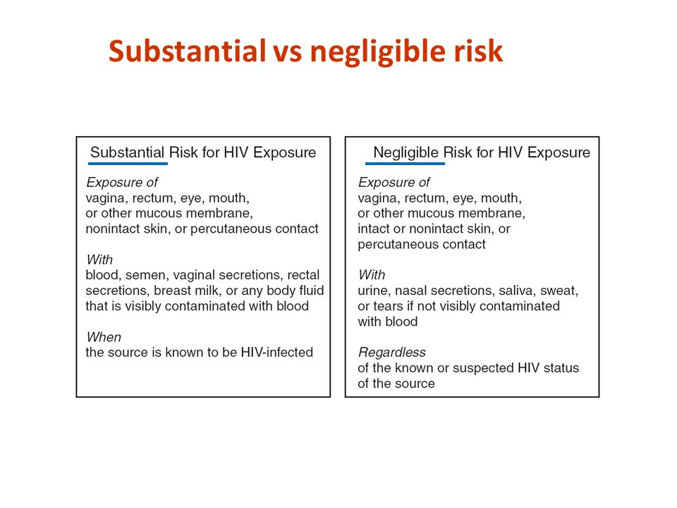 Substantial vs negligible risk