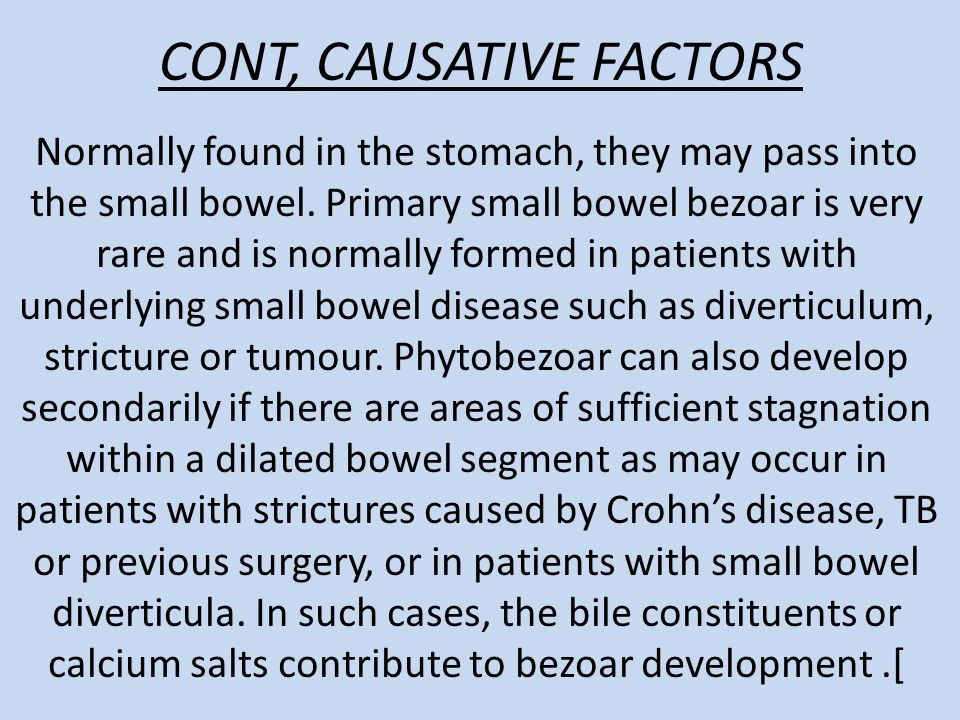 CONT, CAUSATIVE FACTORS