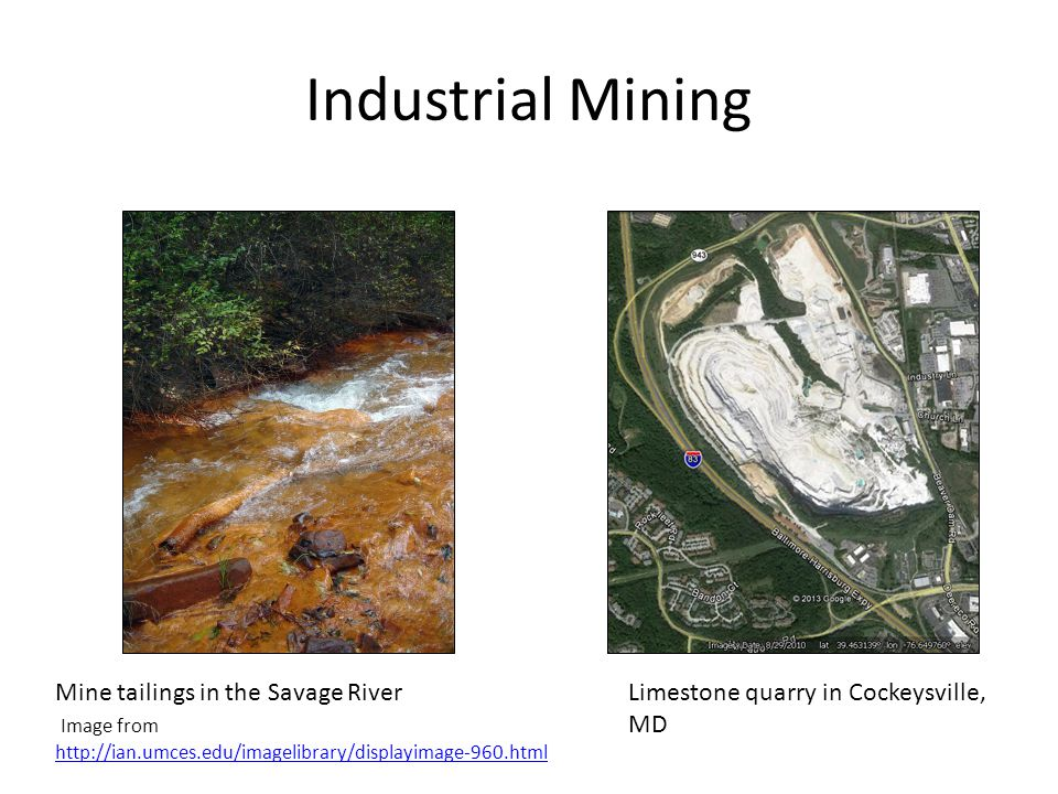Industrial Mining Mine tailings in the Savage River