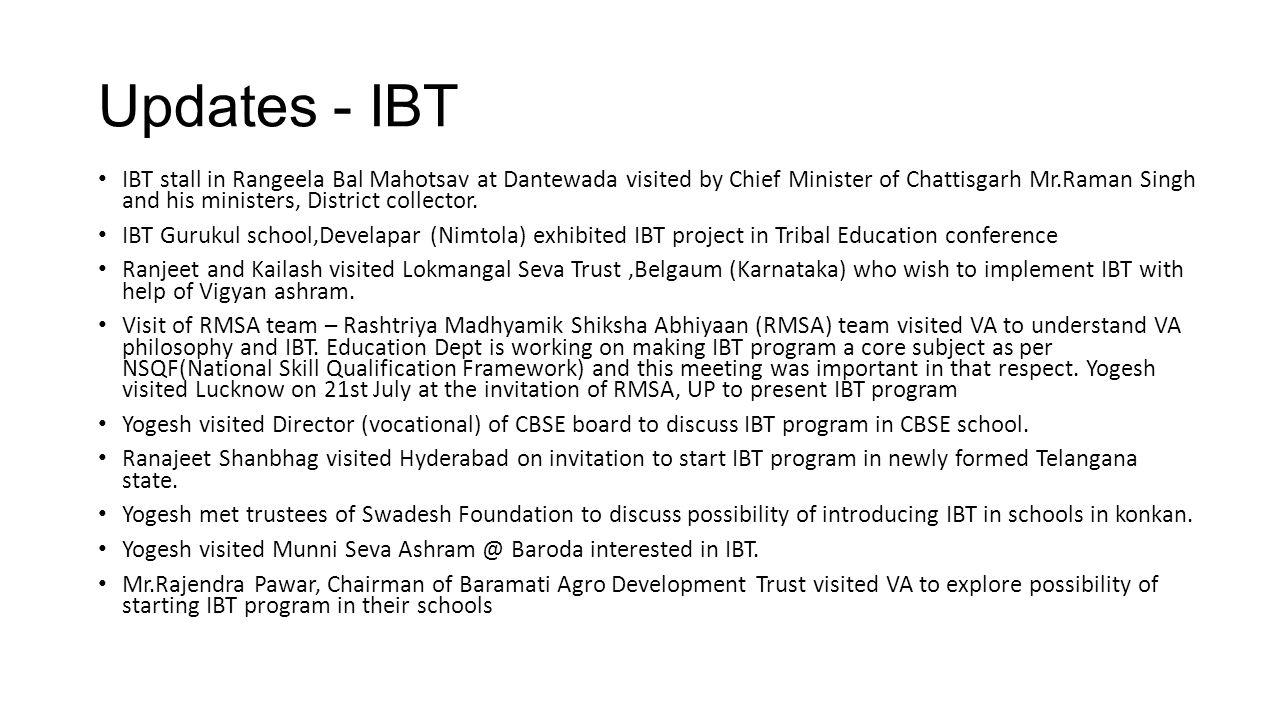 Updates - IBT
