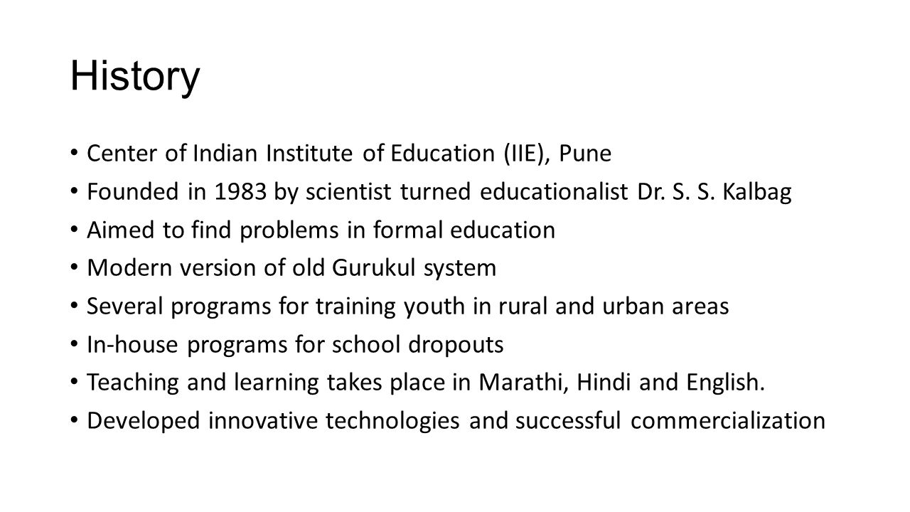 History Center of Indian Institute of Education (IIE), Pune