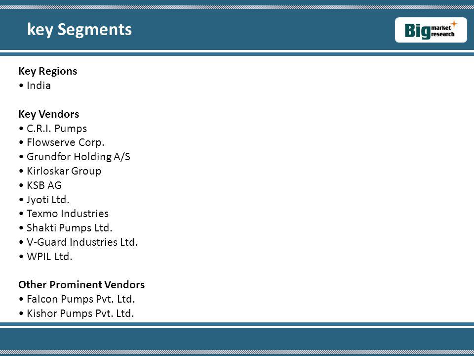 key Segments Key Regions • India