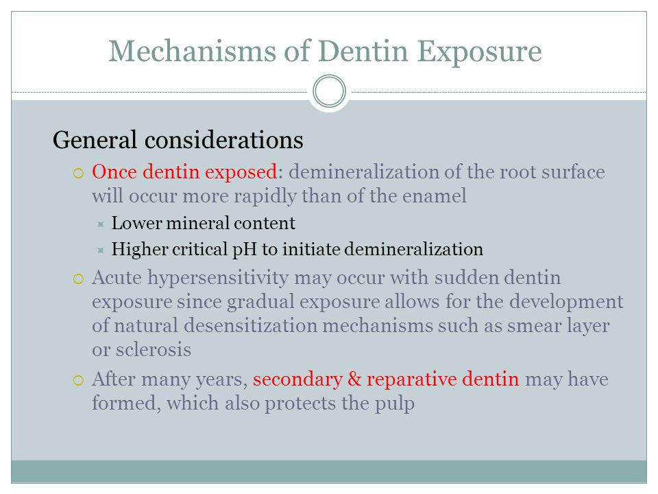 Mechanisms of Dentin Exposure
