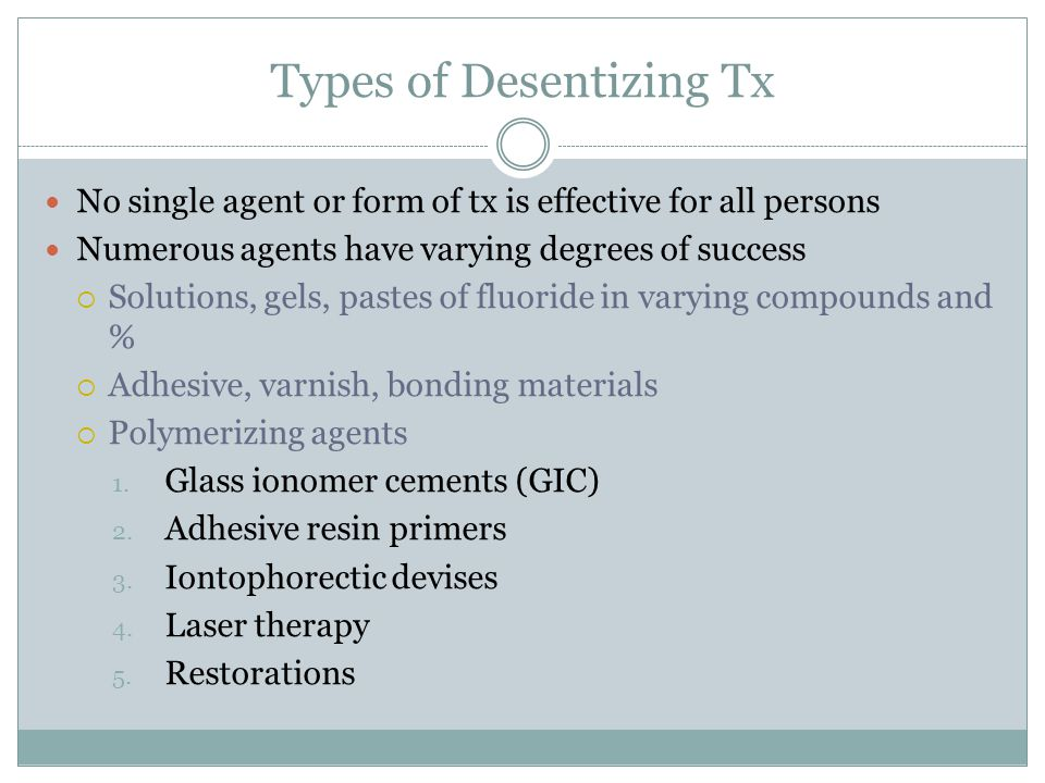 Types of Desentizing Tx