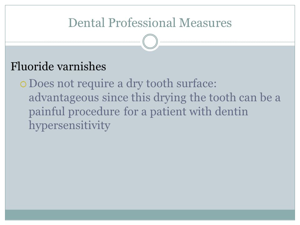 Dental Professional Measures