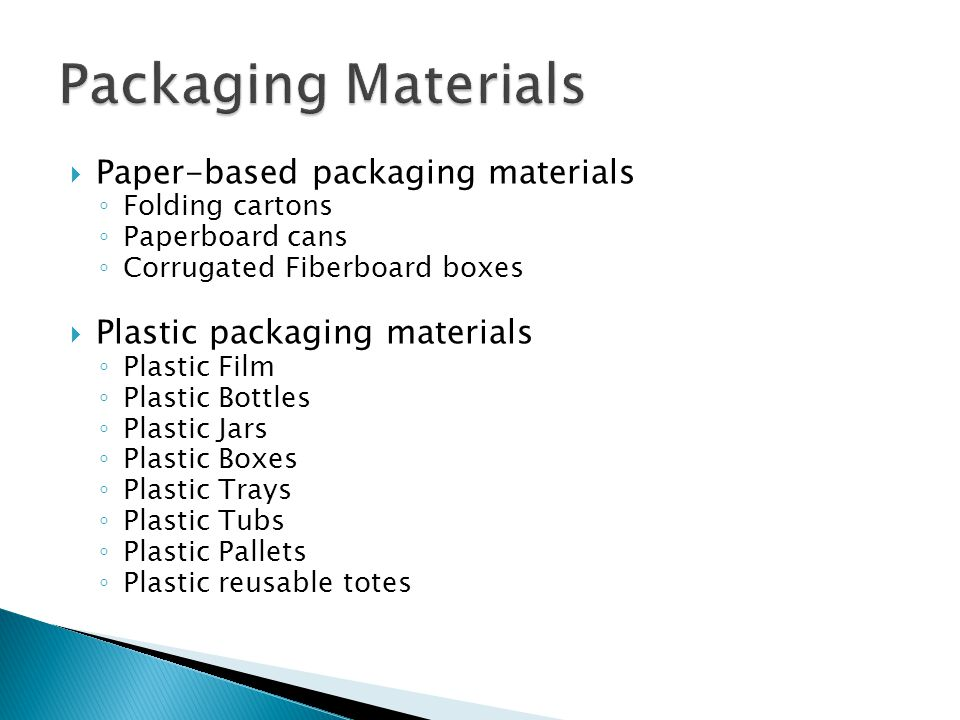 Packaging Materials Paper-based packaging materials