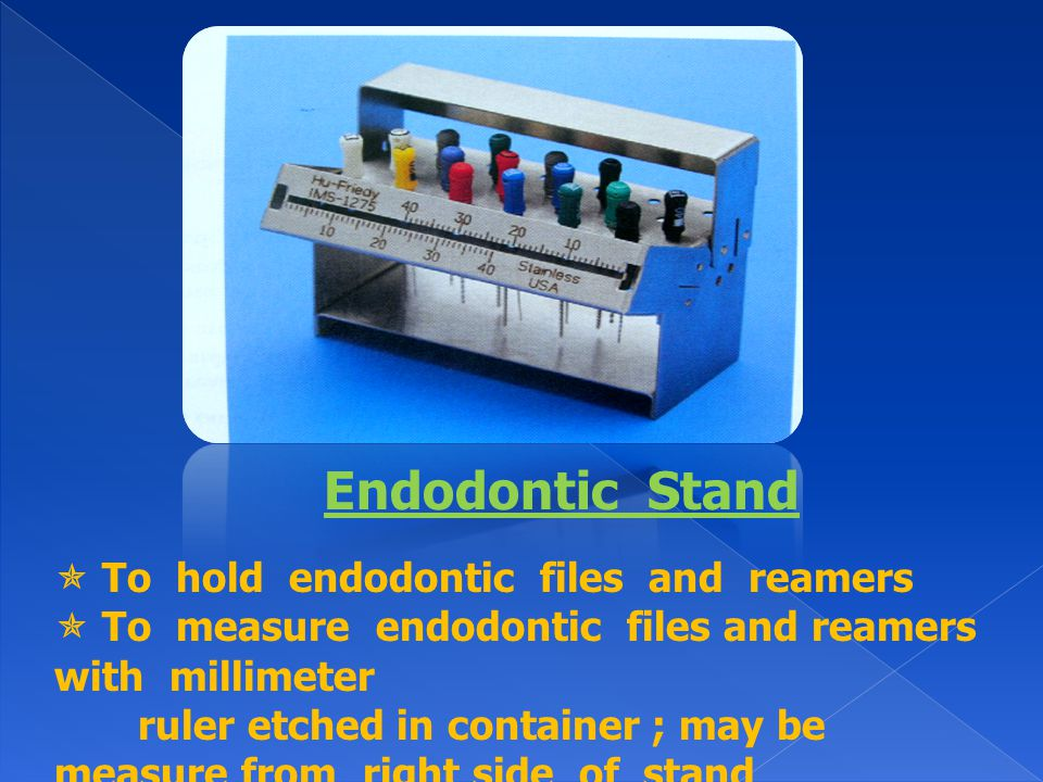 Endodontic Stand  To hold endodontic files and reamers