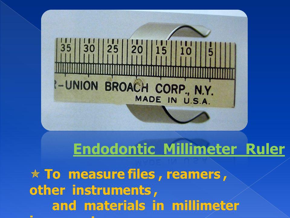 Endodontic Millimeter Ruler