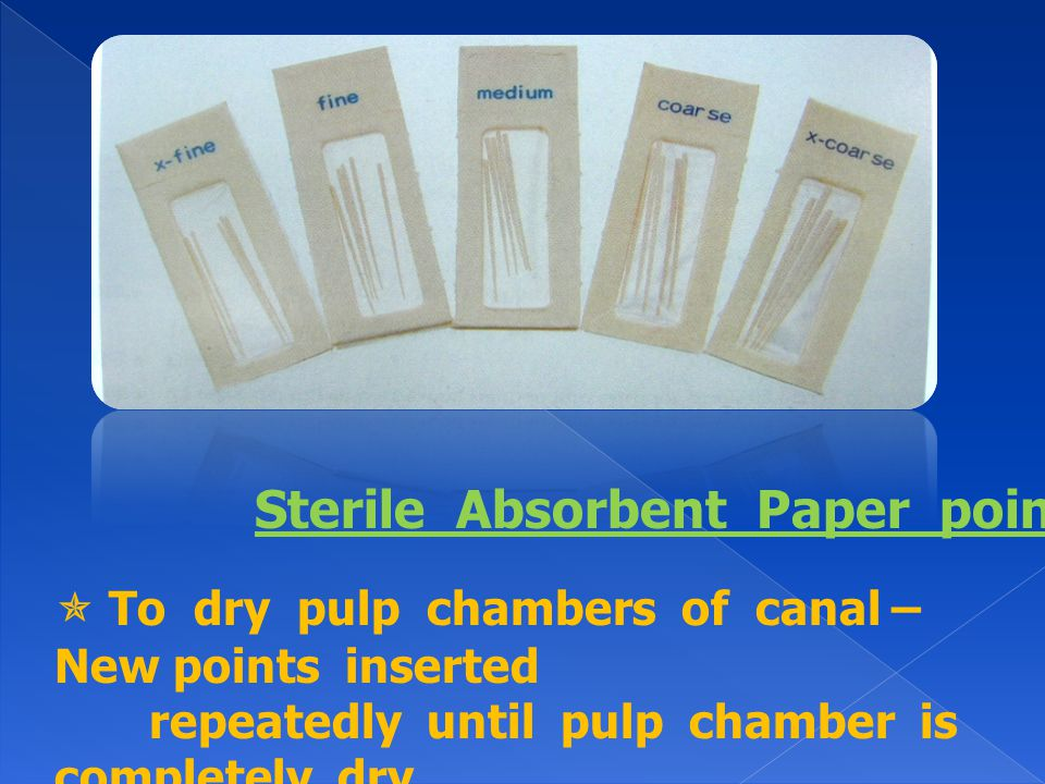Sterile Absorbent Paper points