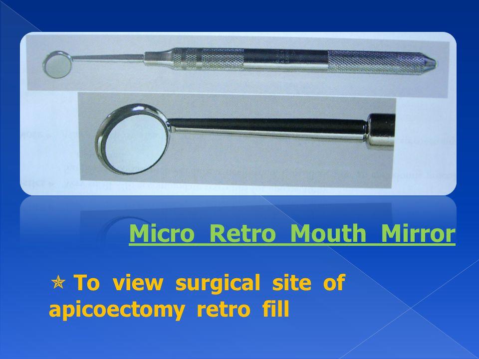 Micro Retro Mouth Mirror
