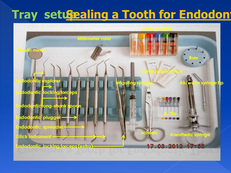 Sealing a Tooth for Endodontic Therapy