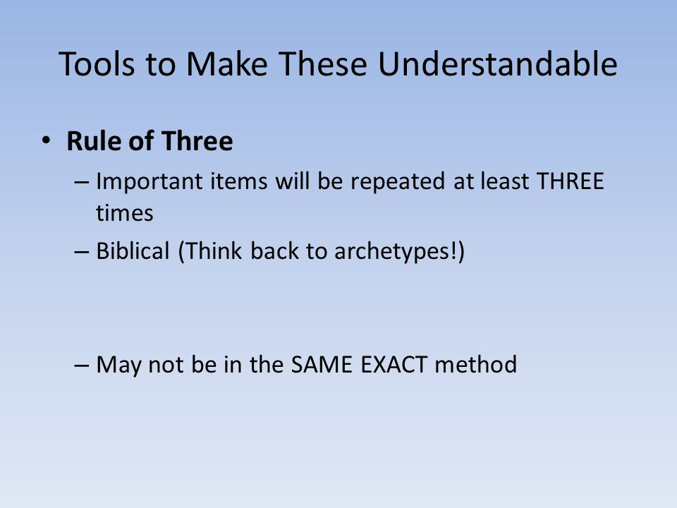 Tools to Make These Understandable