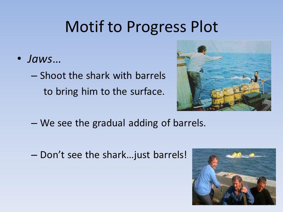Motif to Progress Plot Jaws… Shoot the shark with barrels