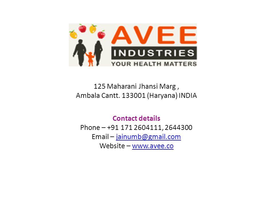 Ambala Cantt. 133001 (Haryana) INDIA