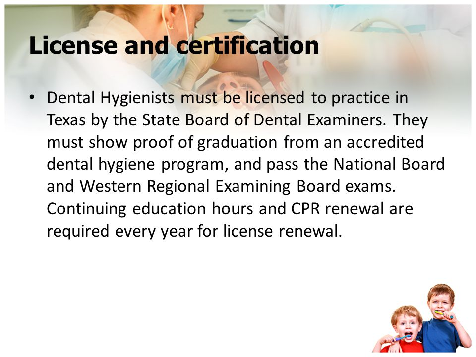 License and certification