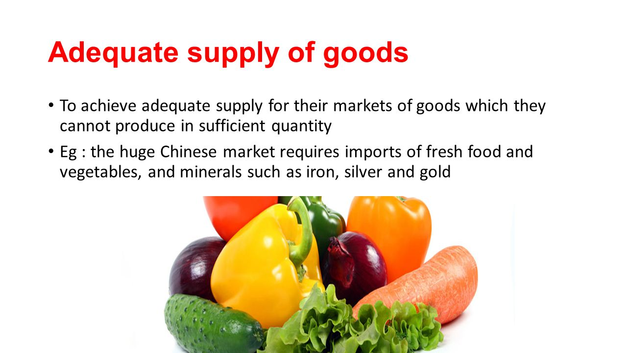 Adequate supply of goods