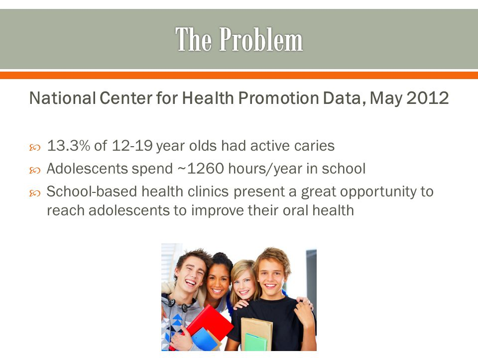 The Problem National Center for Health Promotion Data, May 2012