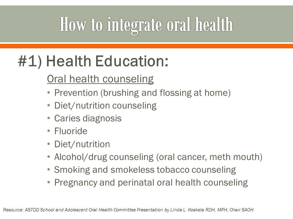 How to integrate oral health