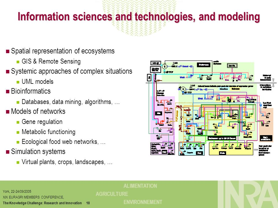 Information sciences and technologies, and modeling