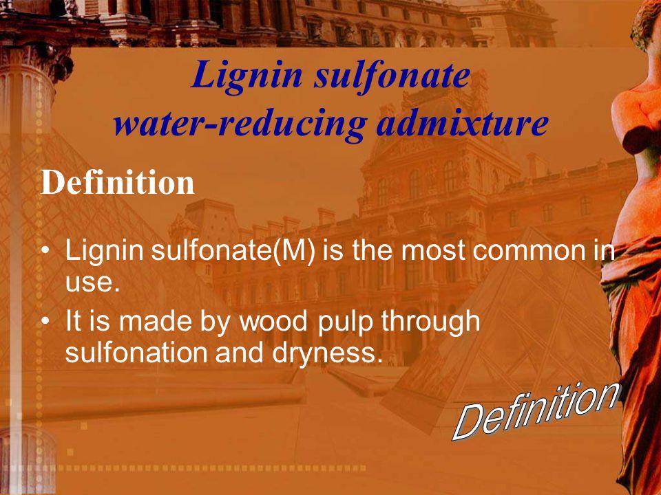 Lignin sulfonate water-reducing admixture