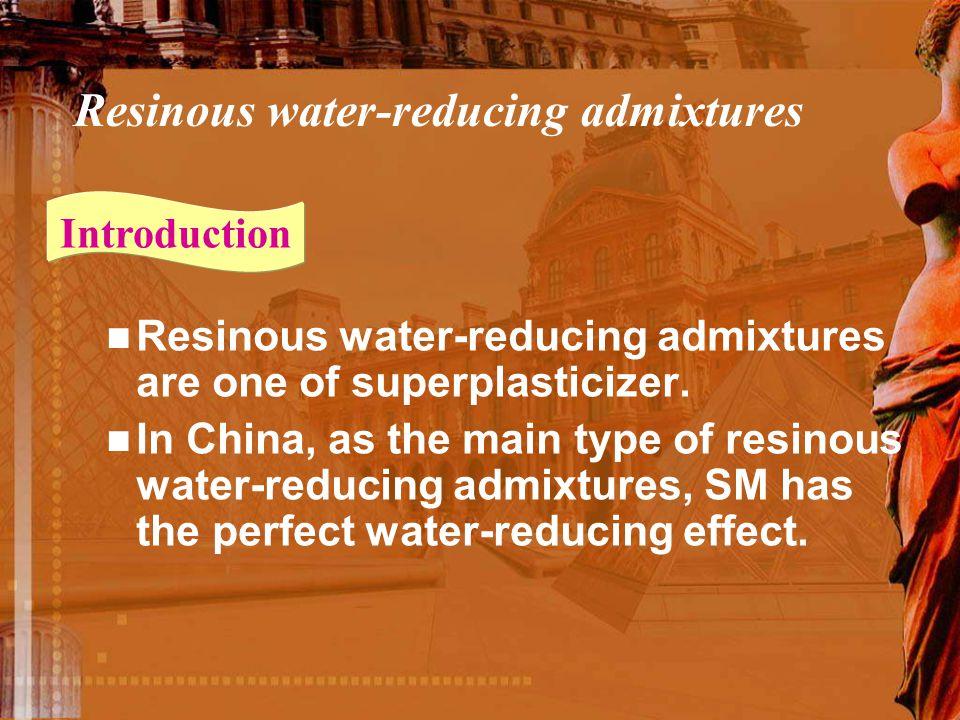 Resinous water-reducing admixtures