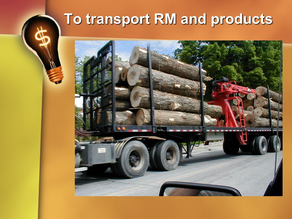 To transport RM and products