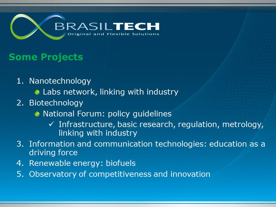 Some Projects Nanotechnology Labs network, linking with industry