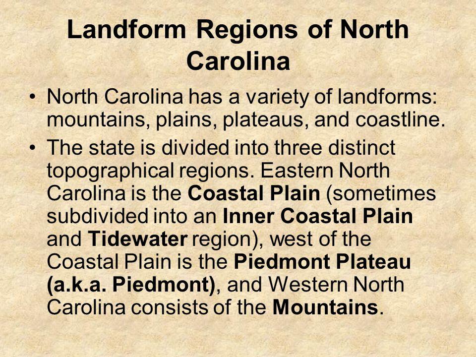 Landform Regions of North Carolina