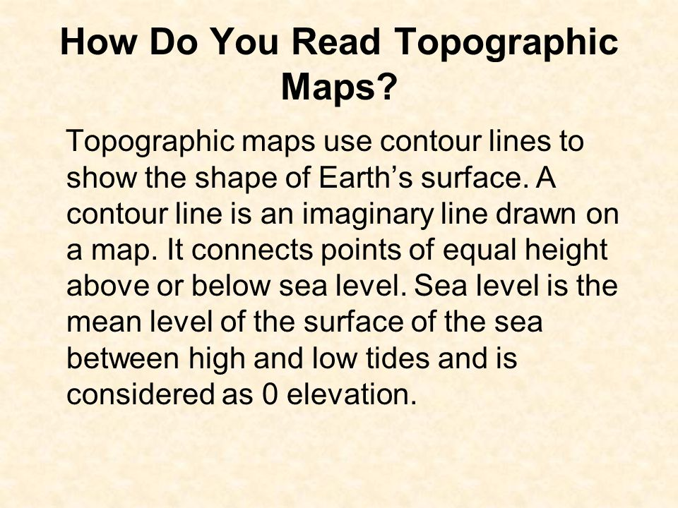 How Do You Read Topographic Maps