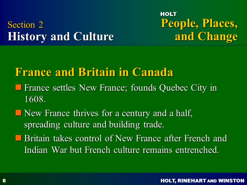 France and Britain in Canada