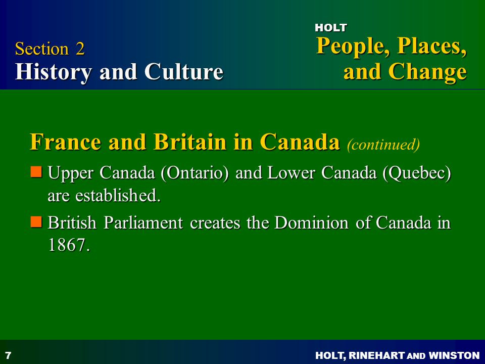 France and Britain in Canada (continued)
