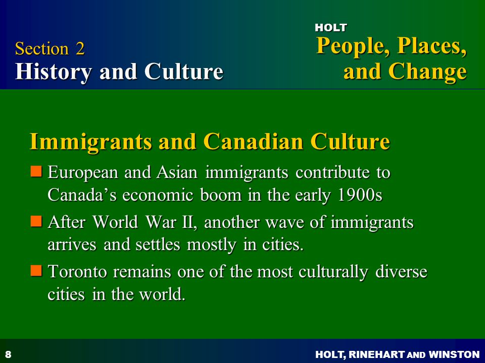 Immigrants and Canadian Culture