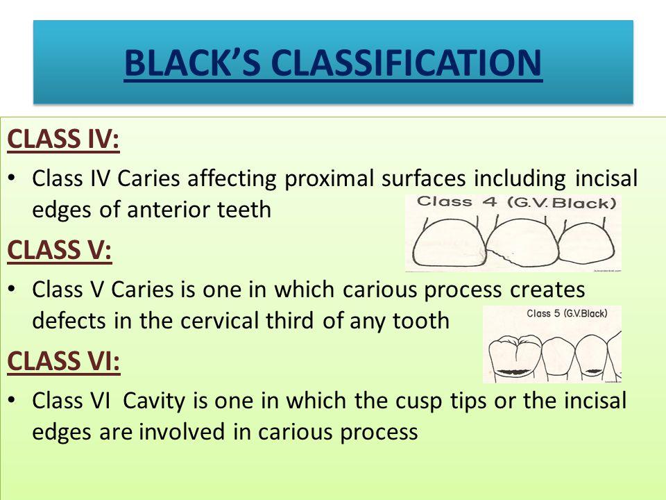 BLACK'S CLASSIFICATION