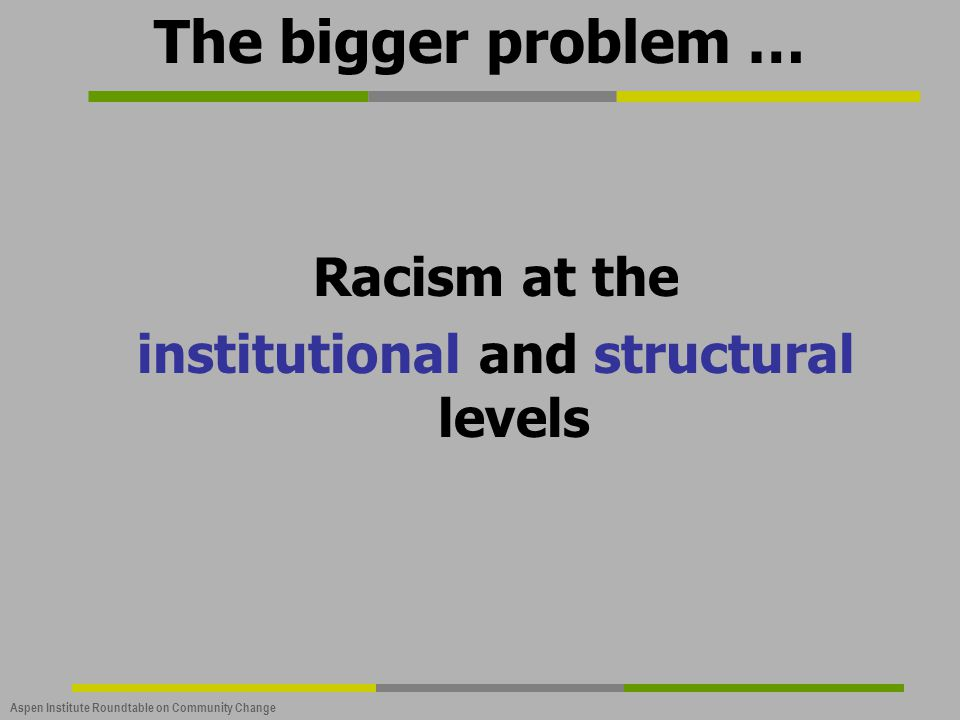 institutional and structural levels