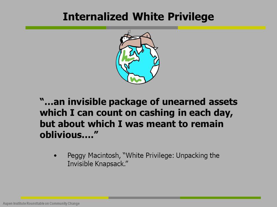 Internalized White Privilege