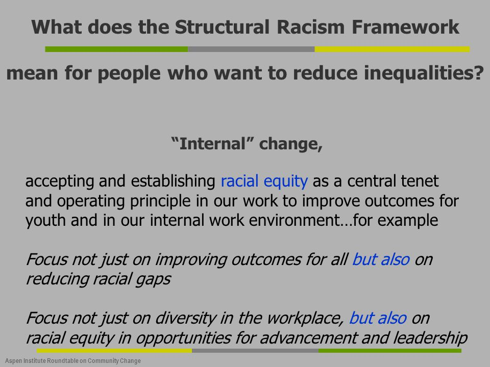 What does the Structural Racism Framework