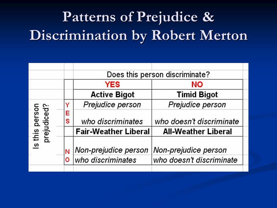 Patterns of Prejudice & Discrimination by Robert Merton