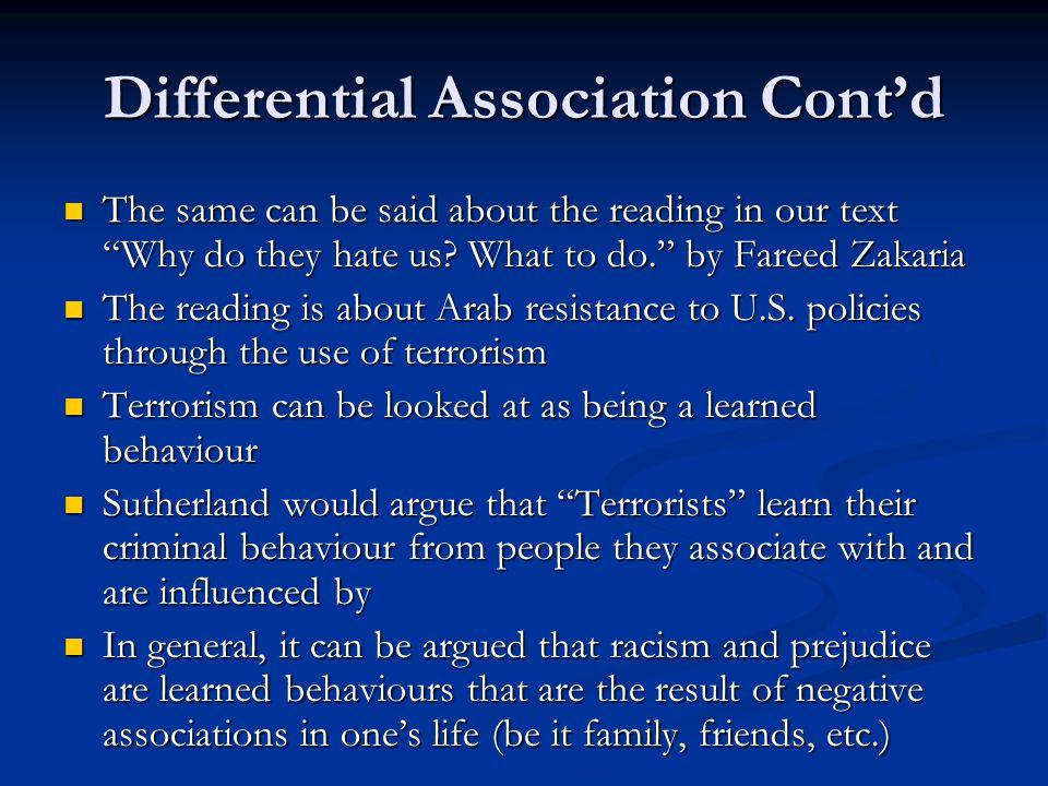 Differential Association Cont'd