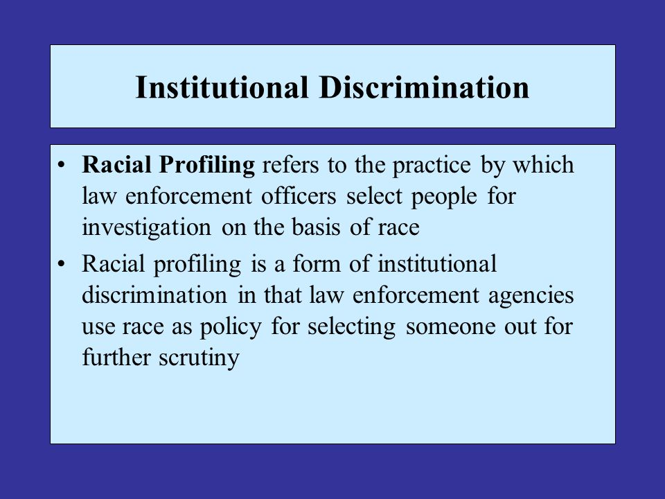 racial profiling by law enforcement essay Bias-based policing is an issue that police departments all across the country are  addressing  keywords racial profiling, bias policing, officers' perspective.