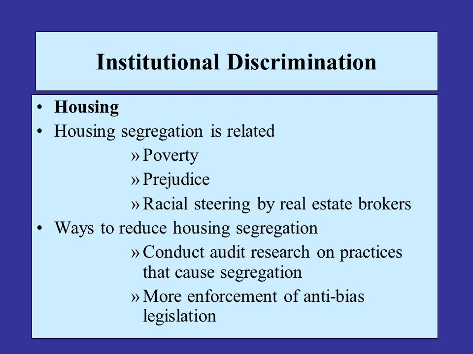 Institutional Discrimination