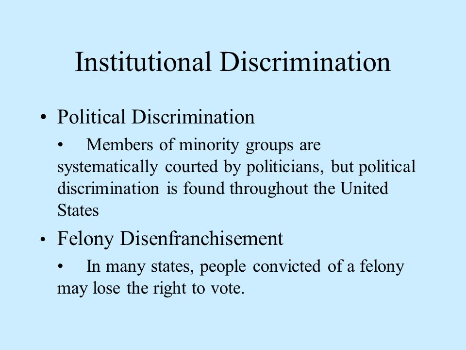the institutionalized racism in the united states Strategies and activities for reducing racial prejudice upon which the united states and other reducing racial prejudice and racism is a complex.